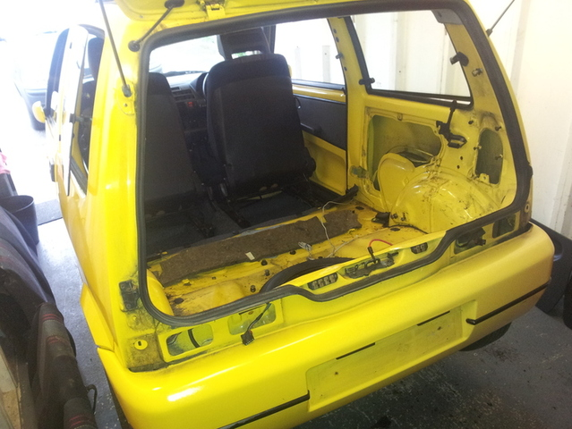 Interior stripped