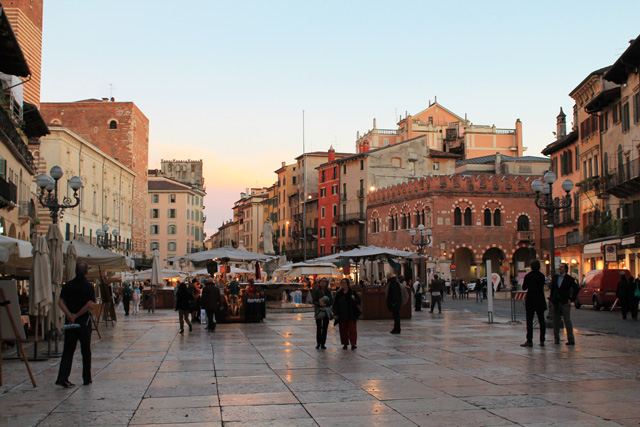 The main square in Verona, Italy