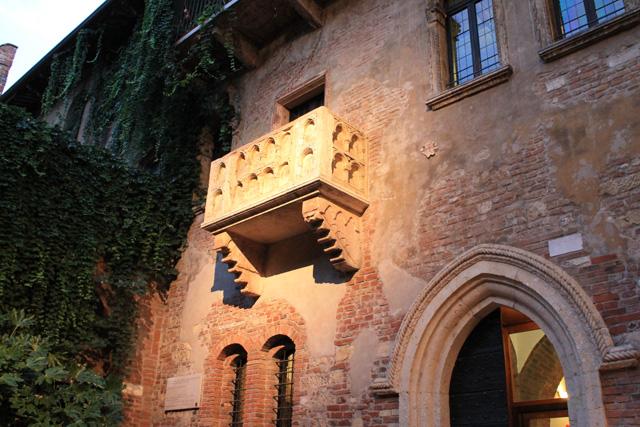 Juliet's famous balcony