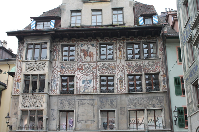 Painted building in Lucerne