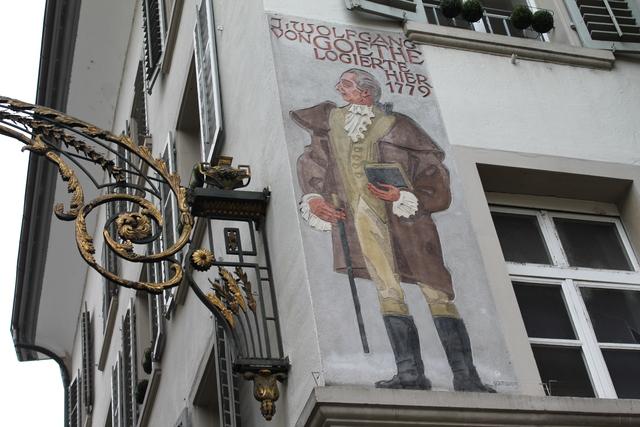 Painted buildings in Lucerne