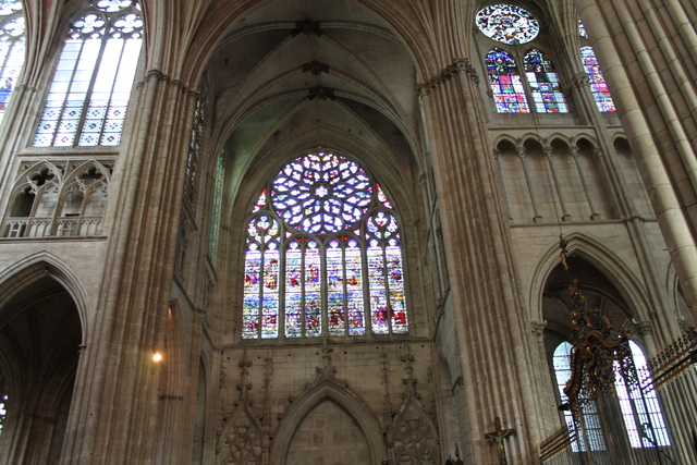 The stain glass windows were very impressive