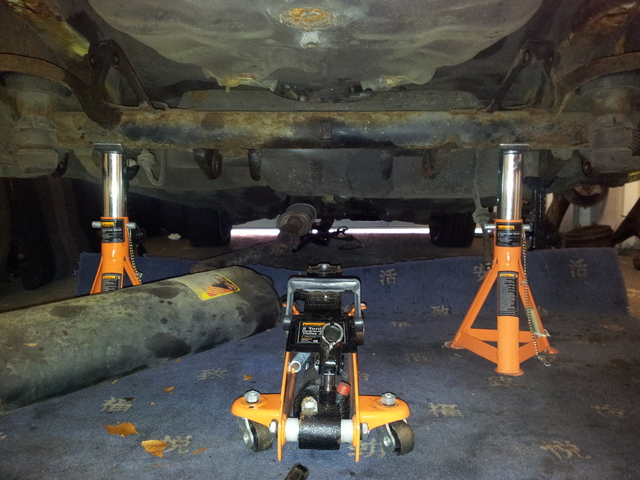 On the axle stands