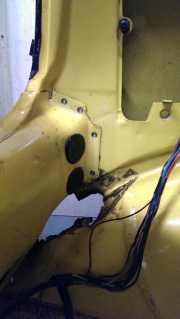 Fiat cinquecento rear panel